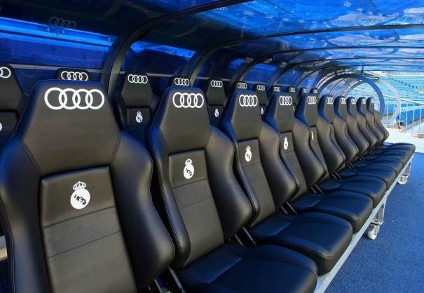 asientos banquillo real madrid audi