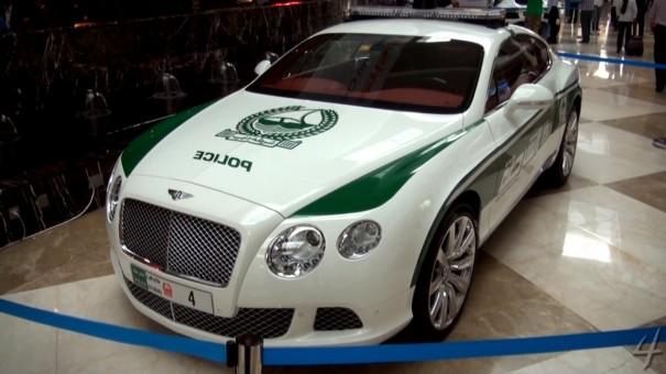 Bentley Continental GT policia dubai