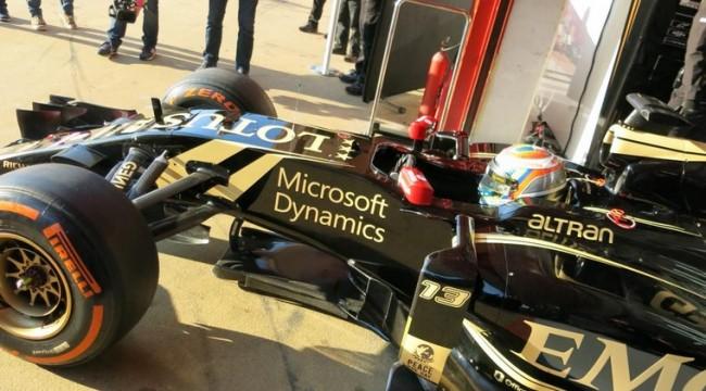 Maldonado lotus test f1 barcelona