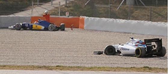 accidente sauber williams Susie Wolff Felipe Nasr