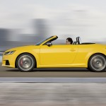 audi tts roadster lateral