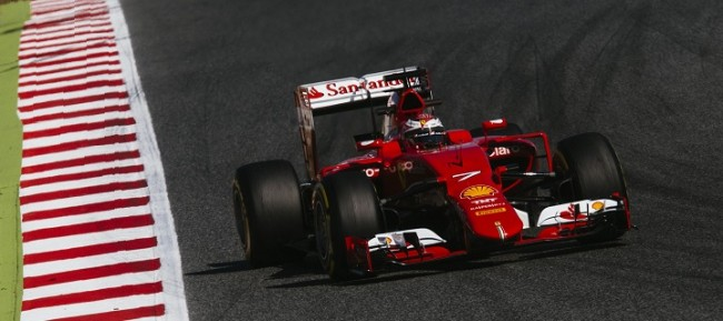 Ferrari test barcelona F1 2015