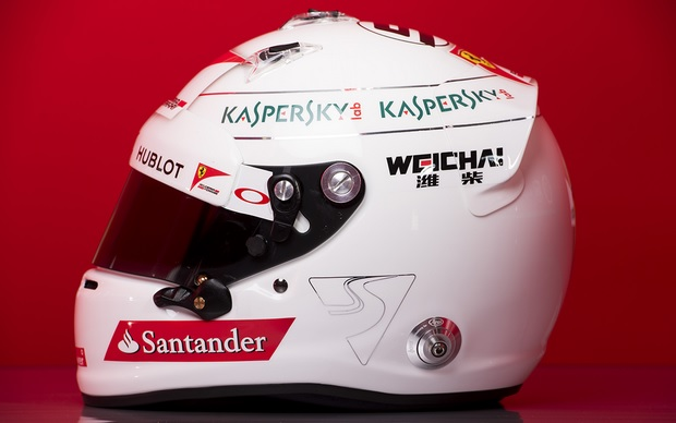 casco vettel f1 2015 lateral