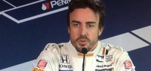 Fernando Alonso rueda de prensa Indy